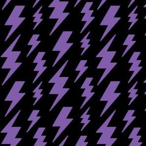 lightning bolts purple on black » halloween
