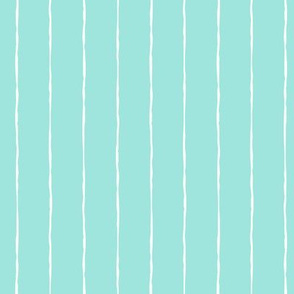 pinstripes white on light baby teal blue » halloween