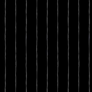 pinstripes dark grey on black » halloween - monochrome