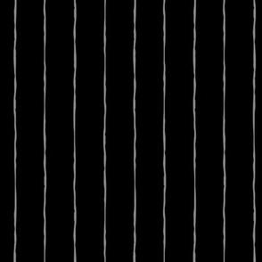 pinstripes light slate grey on black » halloween - monochrome