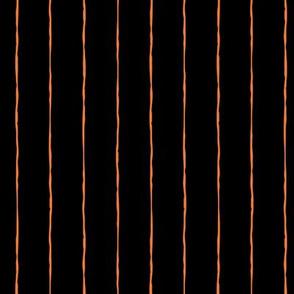 pinstripes orange on black » halloween