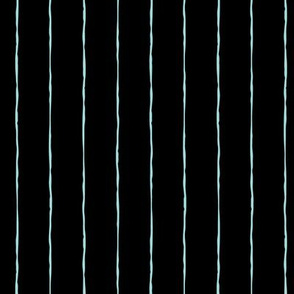 pinstripes light baby teal blue on black » halloween
