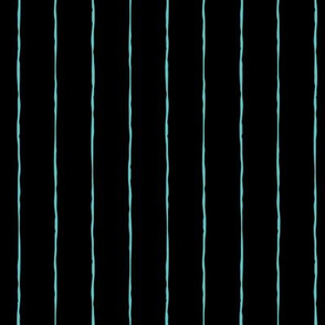 pinstripes teal blue on black » halloween