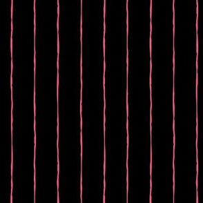 pinstripes hot pink on black » halloween
