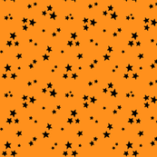 starry black on orange » halloween stars