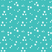 starry white on teal blue » halloween stars