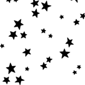 starry LG black on white » halloween - monochrome - black and white stars