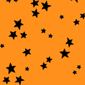 starry LG black on orange » halloween stars