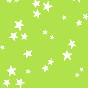 starry LG white on lime green » halloween stars
