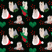 Yorkie - Christmas Panel Matching Fabric