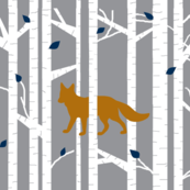 Into the woods -Fox // on grey