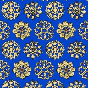 Straw Star Ornaments on Blue