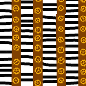 Steampunk Brown and Black Stripes