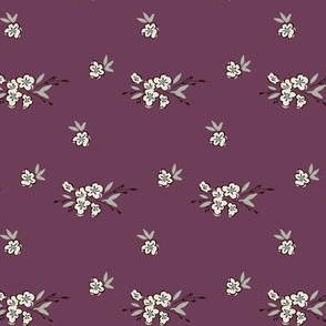 Ditsy Floral - Soft Plum