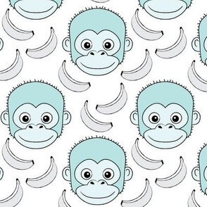 monkey-face-and-bananas---blue-on-white