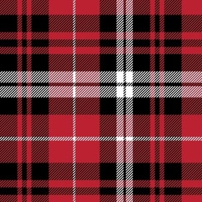 fall plaid || black red and white