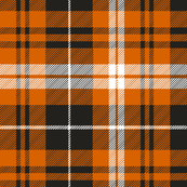 pumpkin spice plaid || soft black