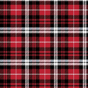 fall plaid (small scale) || black red and white