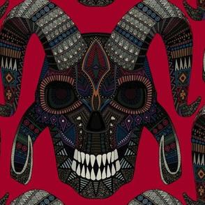 demon skull red