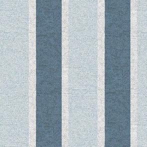 Stony Stripe - slate, denim, frosted glass