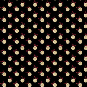 Jingle Bells - on black - matching