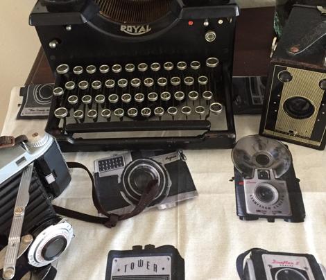 Floating Antique Cameras