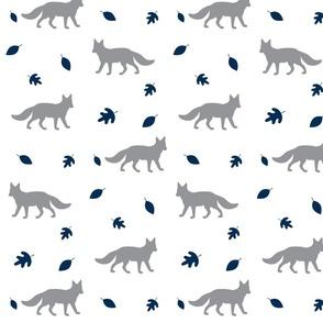 Autumn Fox// grey and navy