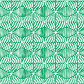 Green and White Tribal Box Stripes