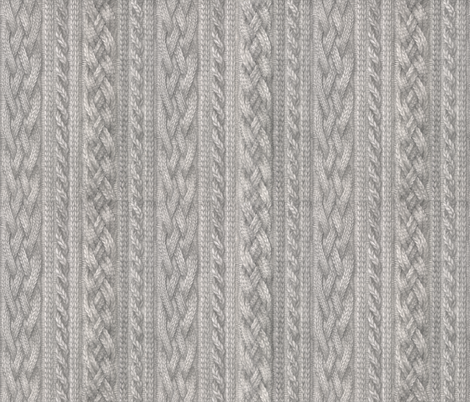 Custom Knit Fabric : Cable Knit fabric - zhfield - Spoonflower