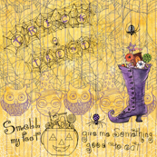 Trick or Treat witch boot