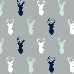 multi buck head on grey || the northern lights collection