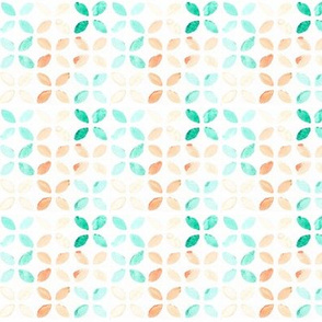 watercolor floral - turquoise