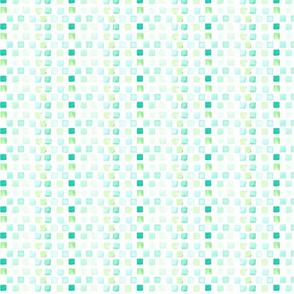 watercolor mosaic - green