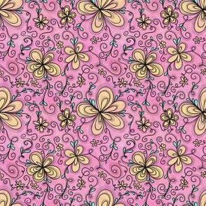 Project 96 | Cream Flowers on Cotton Candy Pink