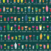 Line 'em up! - Speakeasy Cocktails on Teal