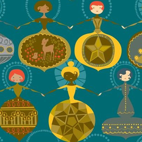 Vintage Ornament Collection - Teal