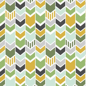 Custom Green Yellow Chevron