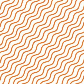 Orange Wave Stripes