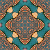 Medalions on Turquoise