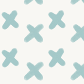 watercolor crosses - seafoam blue hand drawn crosses || by sunny afternoon