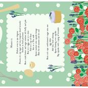 Lavender Cupcake Recipe Tea Towel