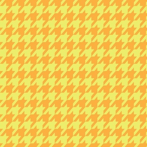 Houndstooth Pear and Orange