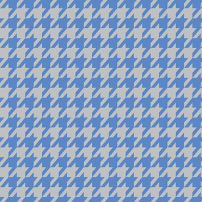 Houndstooth Light Gray and Cornflower