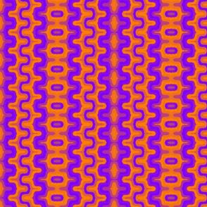 Tribal Print, Purple-Orange