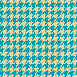 Houndstooth Tan and Teal