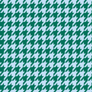 Houndstooth Baby Blue and Jade