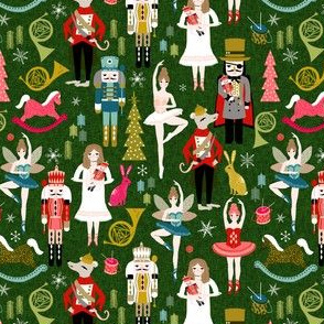 nutcracker ballet // nutcracker holiday xmas chirstmas fabric xmas holiday andrea lauren