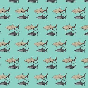 Subtle Sharks green