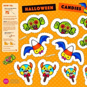 Halloween Candies – Yeti, Zombie & Vampire