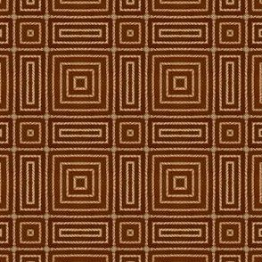 Raffia Parquetry ~ Mahogany ~ Squares